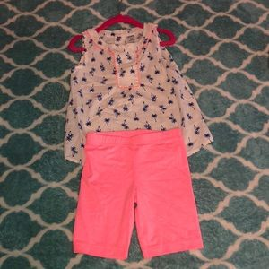 Toddlers matching outfit from Carters